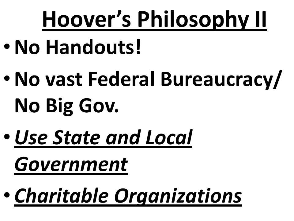 Hoover's Philosophy II