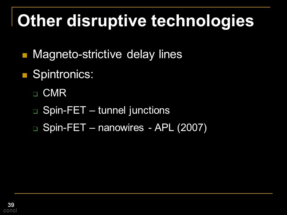 Other disruptive technologies