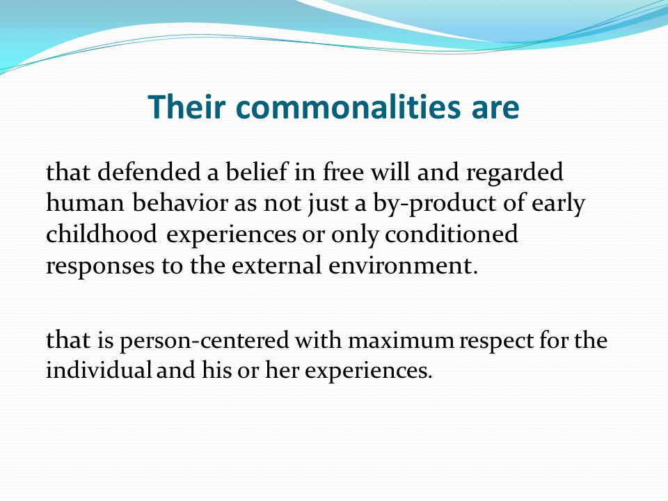 Their commonalities are
