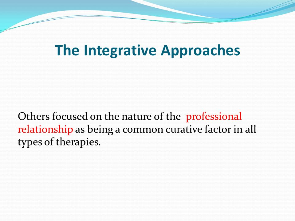 The Integrative Approaches
