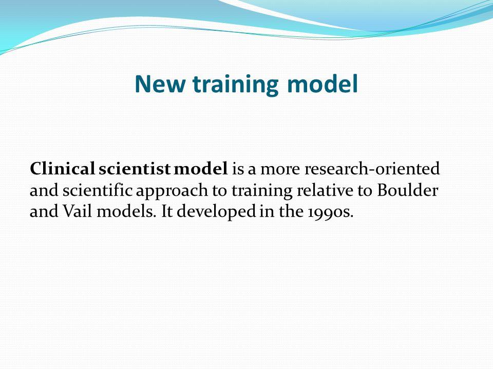 New training model