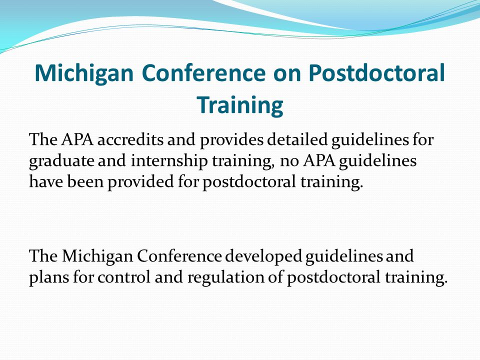 Michigan Conference on Postdoctoral Training