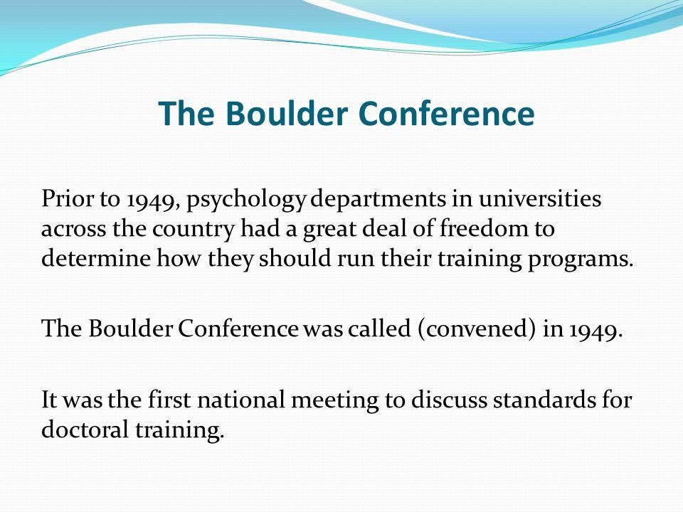 The Boulder Conference