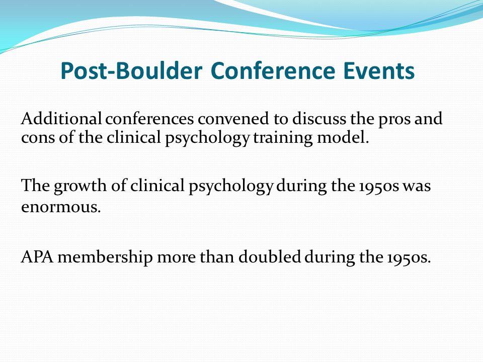 Post-Boulder Conference Events