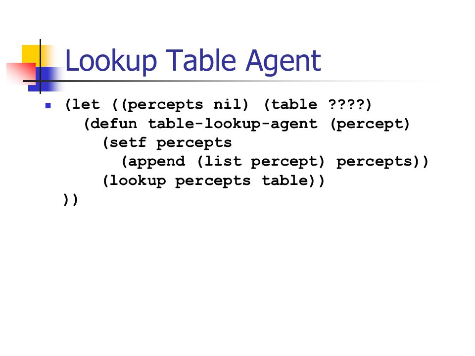 Lookup Table Agent