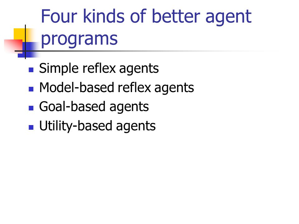 Four kinds of better agent programs