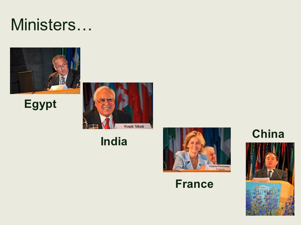 Ministers… Egypt China India France