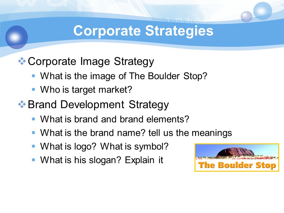 Corporate Strategies Corporate Image Strategy