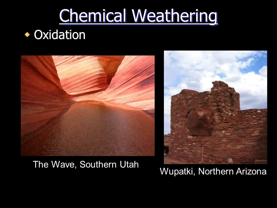 Chemical Weathering Oxidation The Wave, Southern Utah