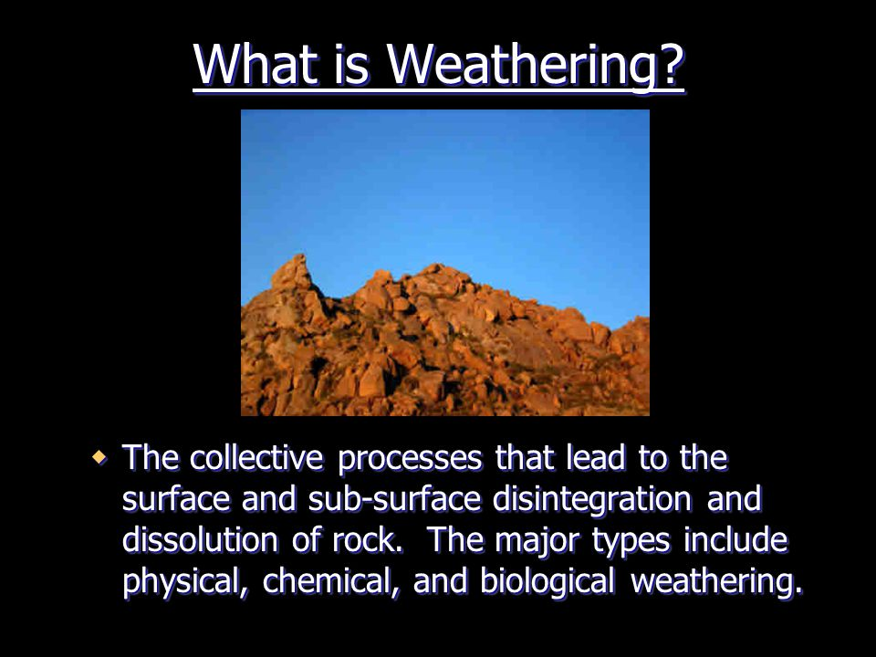 What is Weathering
