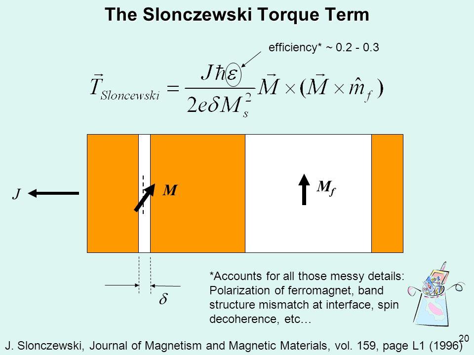 The Slonczewski Torque Term
