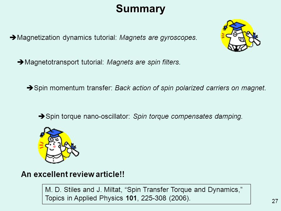 Summary An excellent review article!!