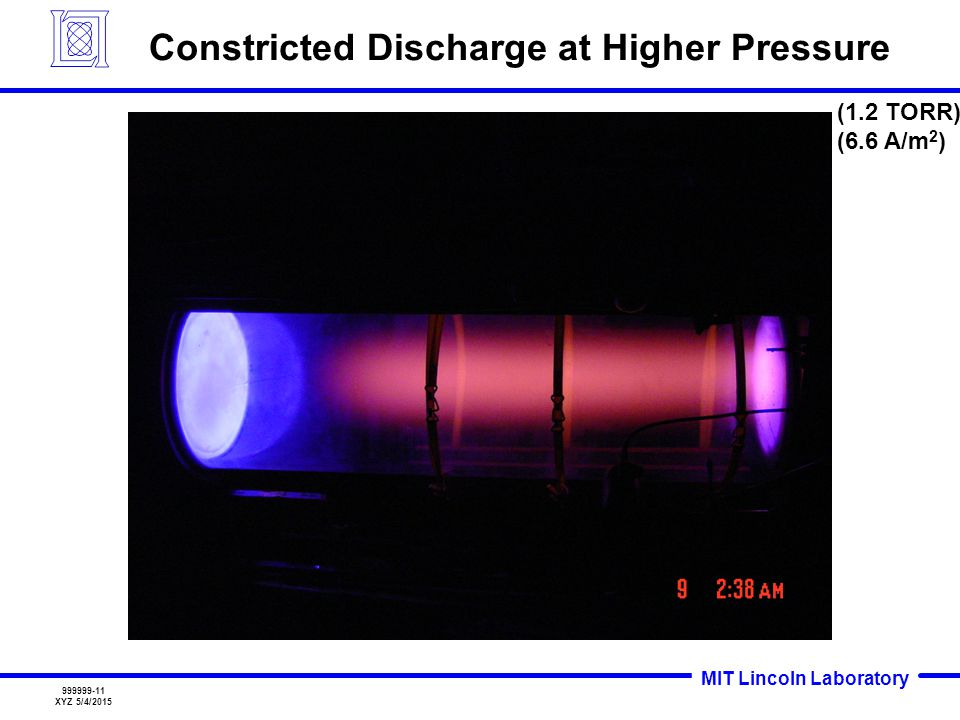 Constricted Discharge at Higher Pressure