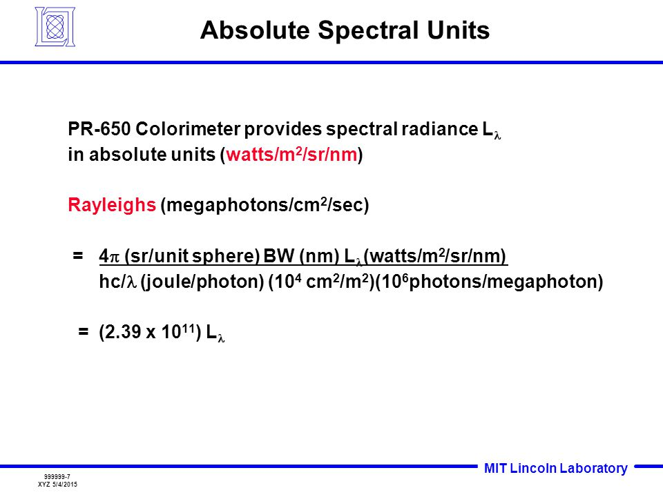 Absolute Spectral Units