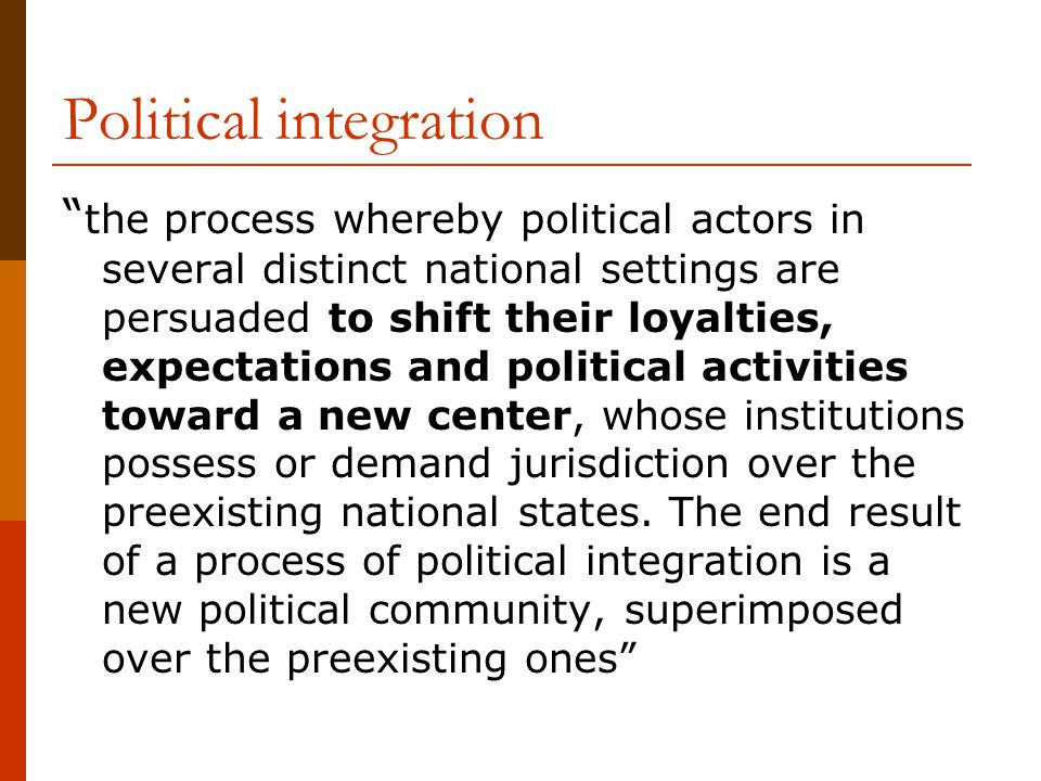 Political integration