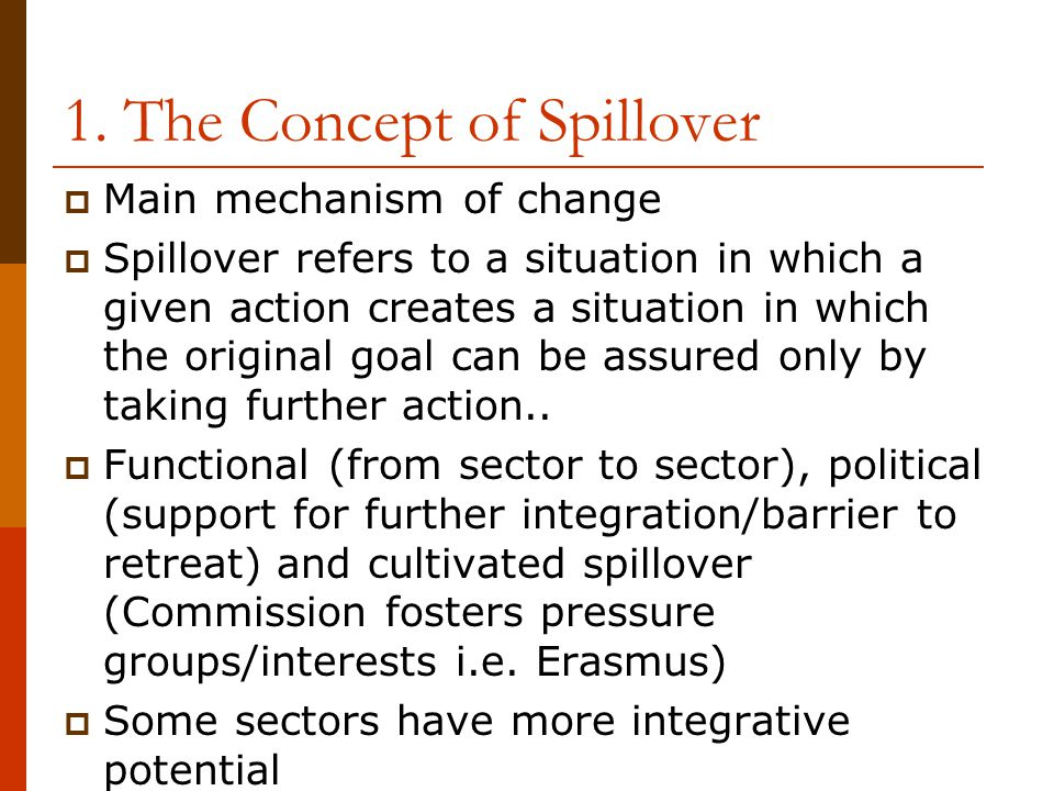 1. The Concept of Spillover
