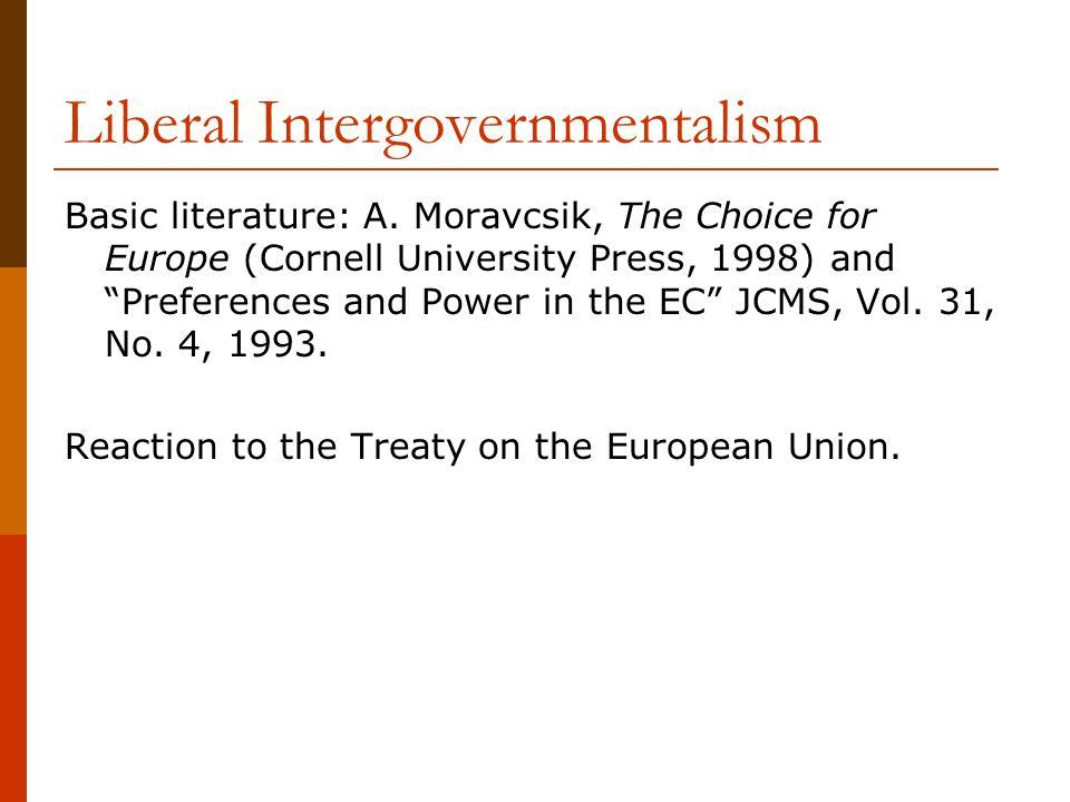 Liberal Intergovernmentalism