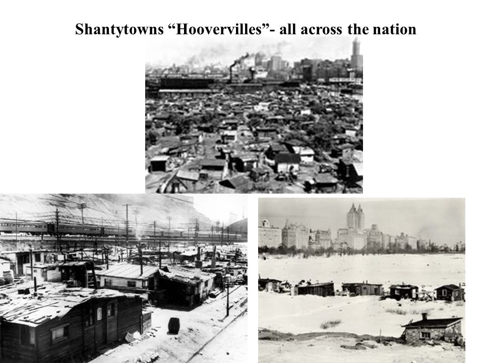 Shantytowns Hoovervilles - all across the nation