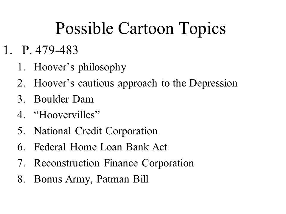 Possible Cartoon Topics
