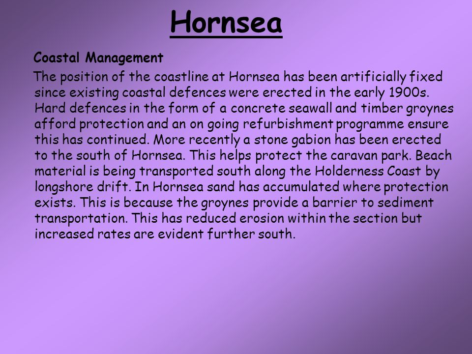 Hornsea Coastal Management