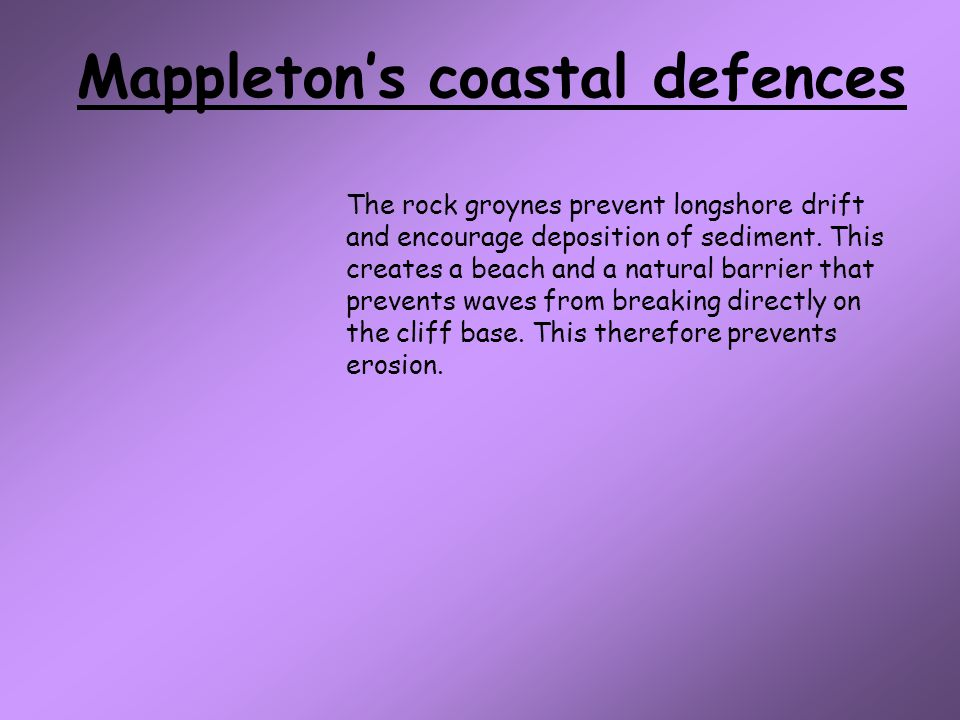 Mappleton's coastal defences