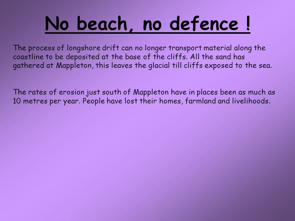 No beach, no defence !