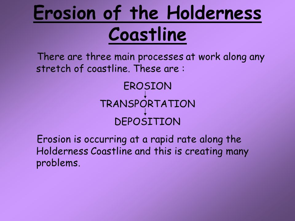 Erosion of the Holderness Coastline
