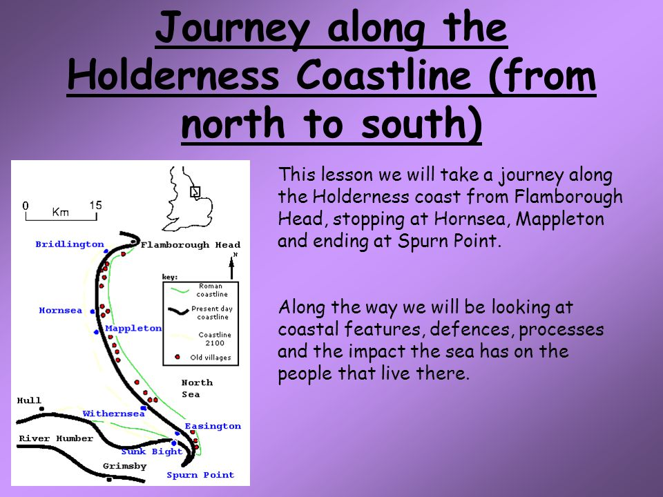Journey along the Holderness Coastline (from north to south)