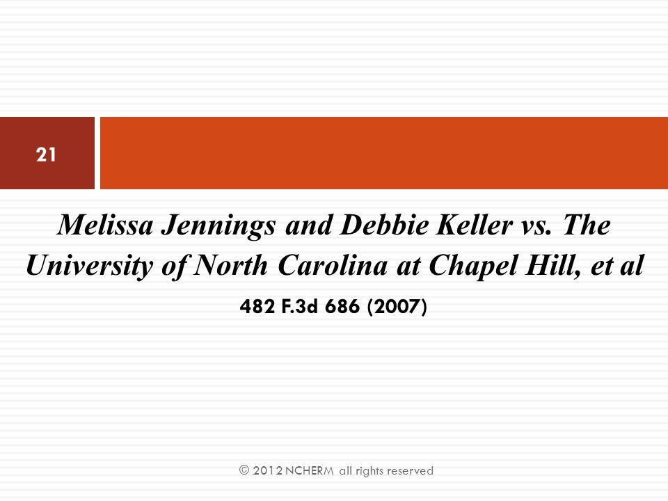 Melissa Jennings and Debbie Keller vs