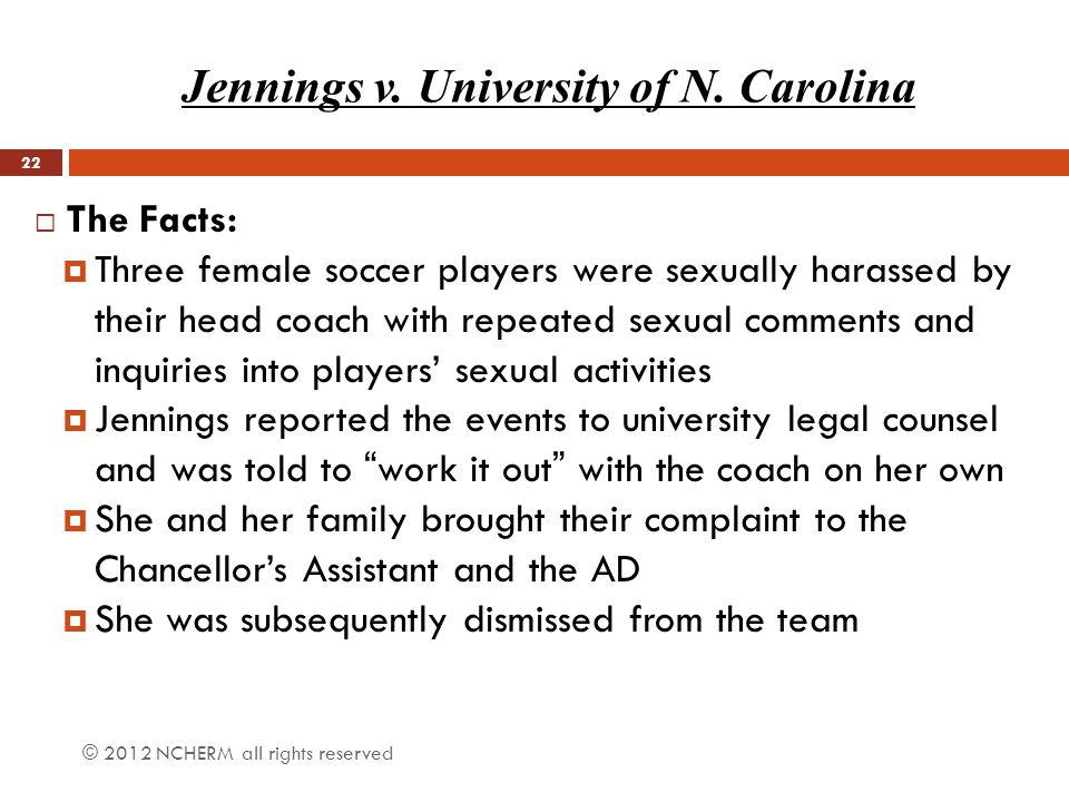 Jennings v. University of N. Carolina