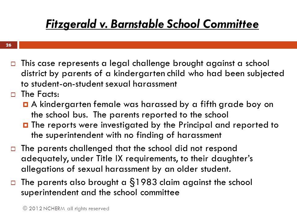 Fitzgerald v. Barnstable School Committee