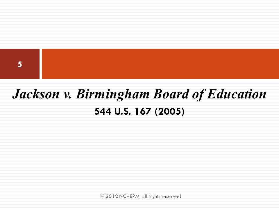 Jackson v. Birmingham Board of Education