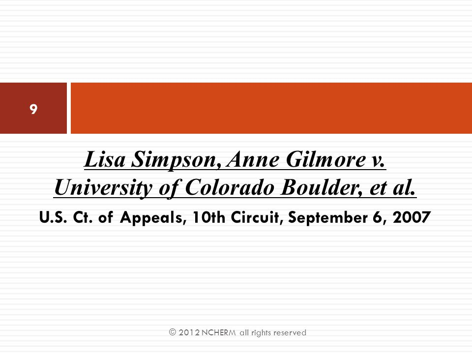 Lisa Simpson, Anne Gilmore v. University of Colorado Boulder, et al.