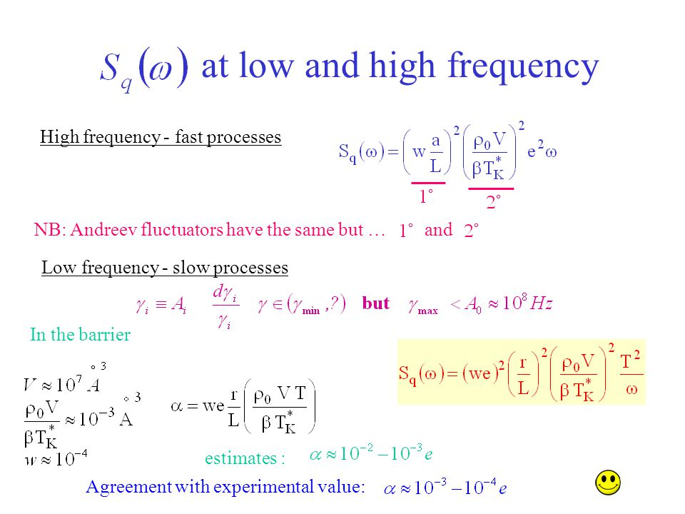 at low and high frequency