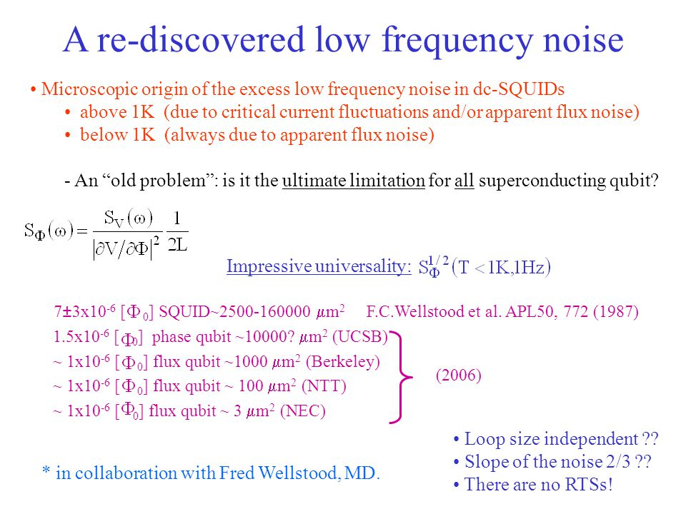 A re-discovered low frequency noise