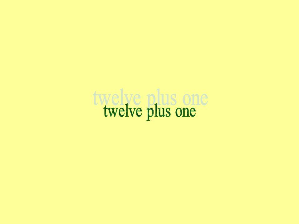 twelve plus one