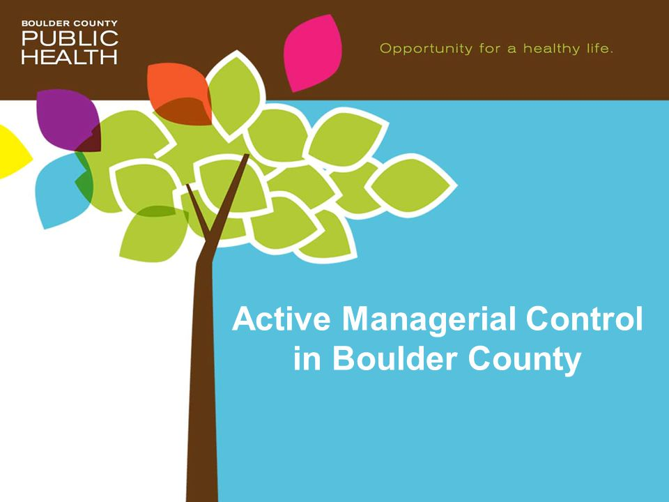 Active Managerial Control in Boulder County