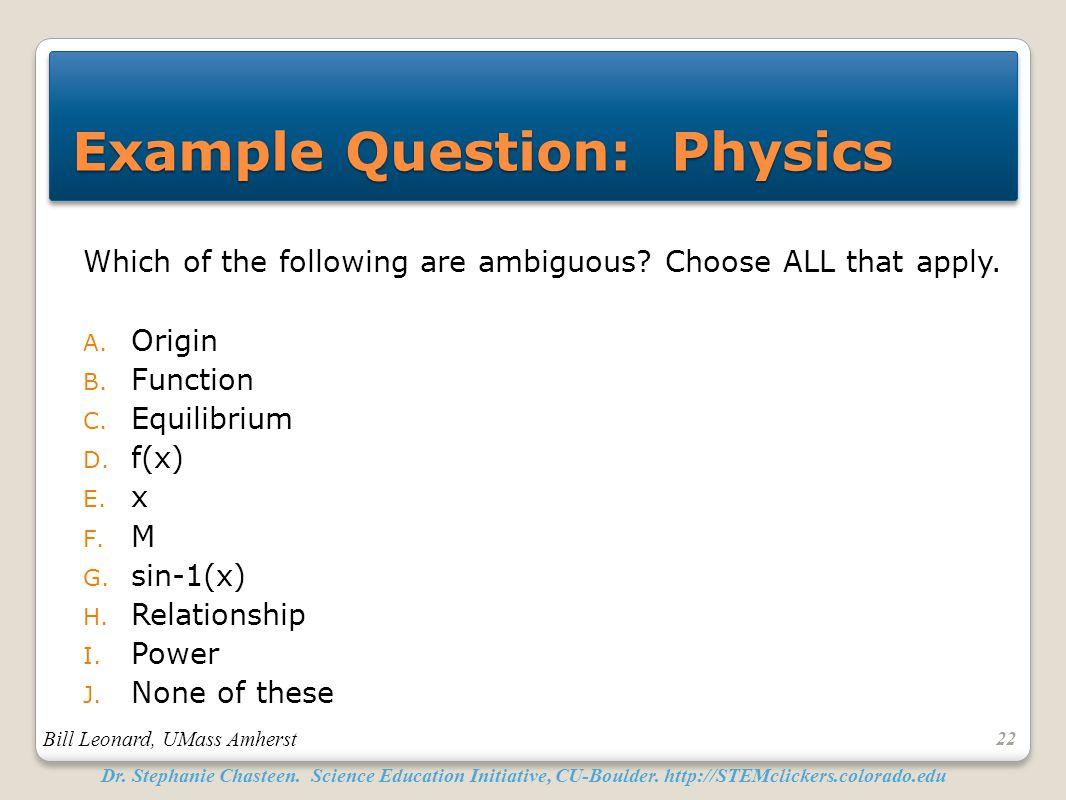 physics i final exam example