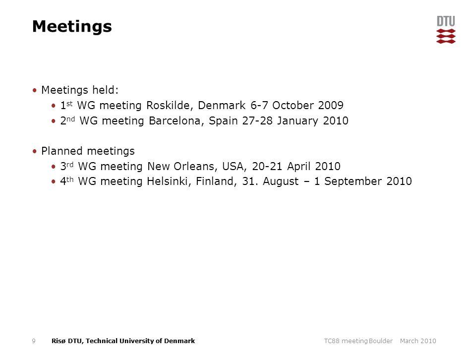 Meetings Meetings held: