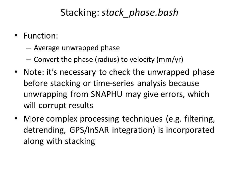 Stacking: stack_phase.bash