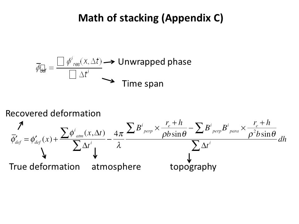 Math of stacking (Appendix C)