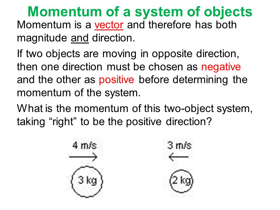 Momentum of a system of objects