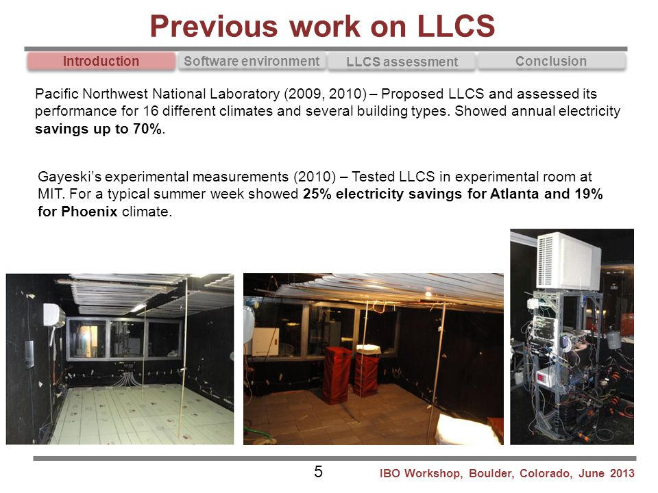 Previous work on LLCS