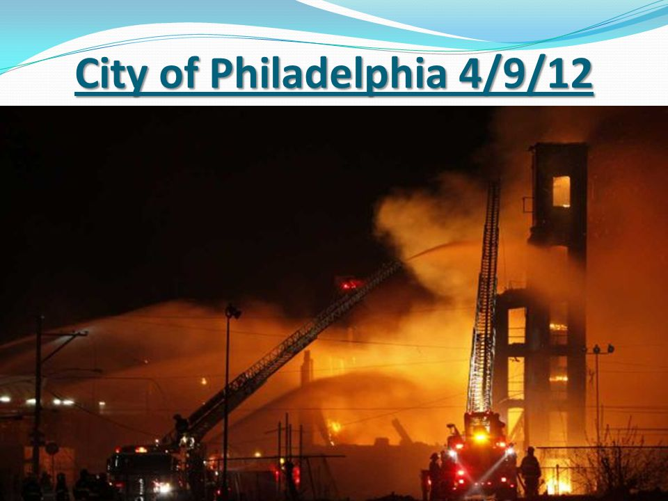 City of Philadelphia 4/9/12