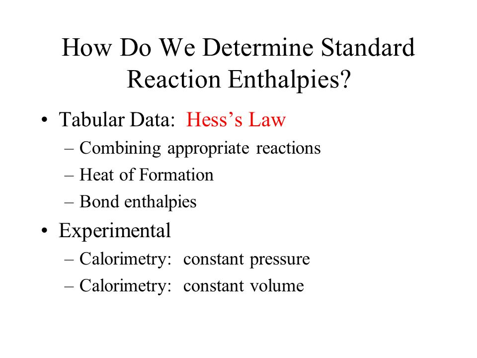 How Do We Determine Standard Reaction Enthalpies