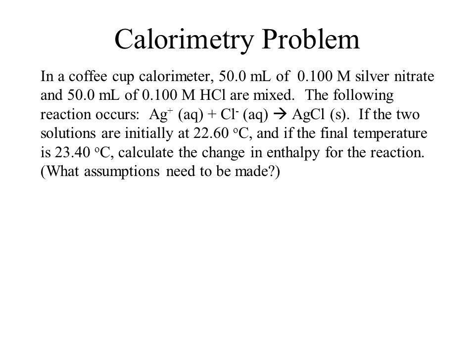 Calorimetry Problem