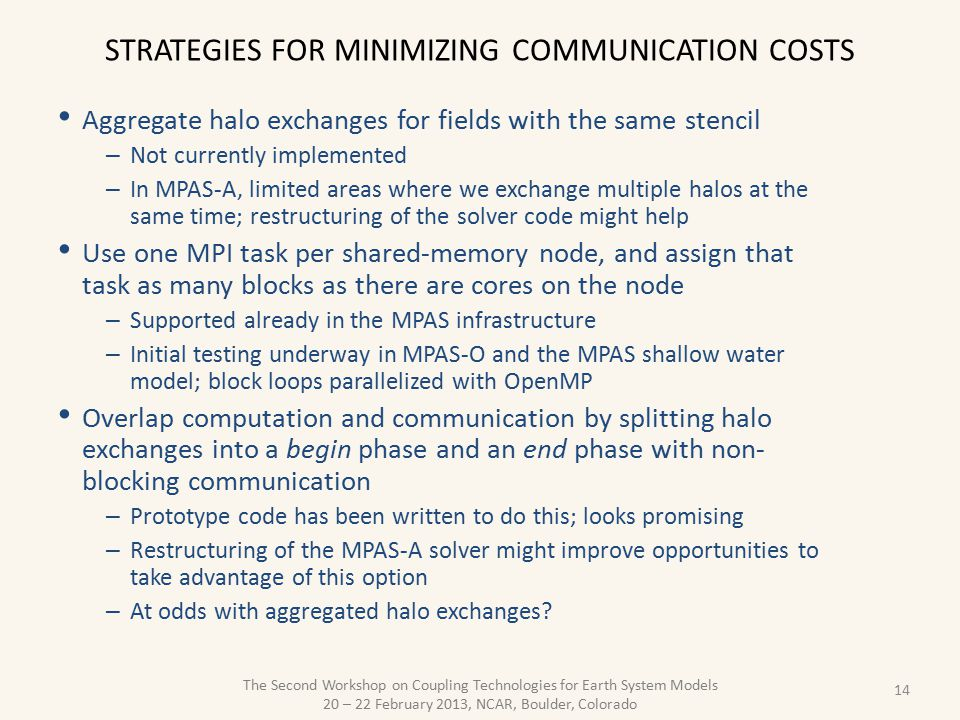 Strategies for minimizing communication costs