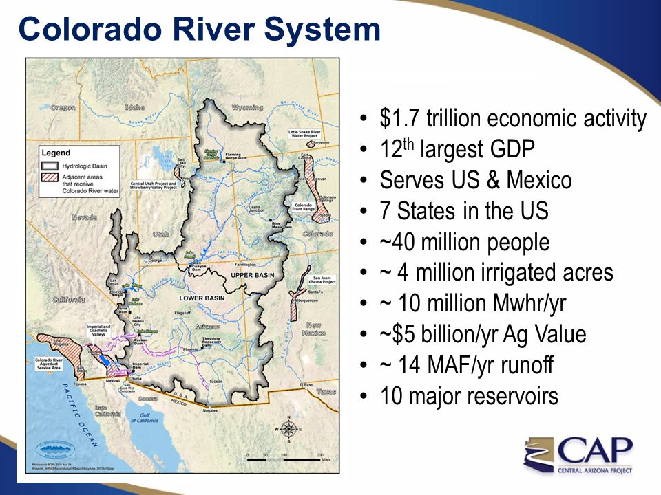 Colorado River System $1.7 trillion economic activity 12th largest GDP