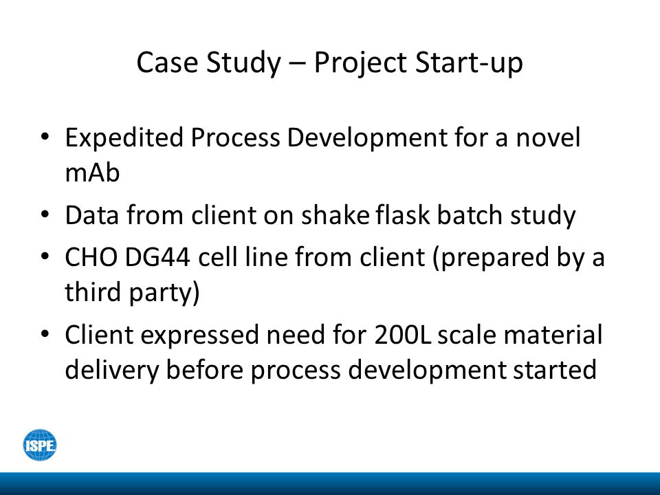 Case Study – Project Start-up