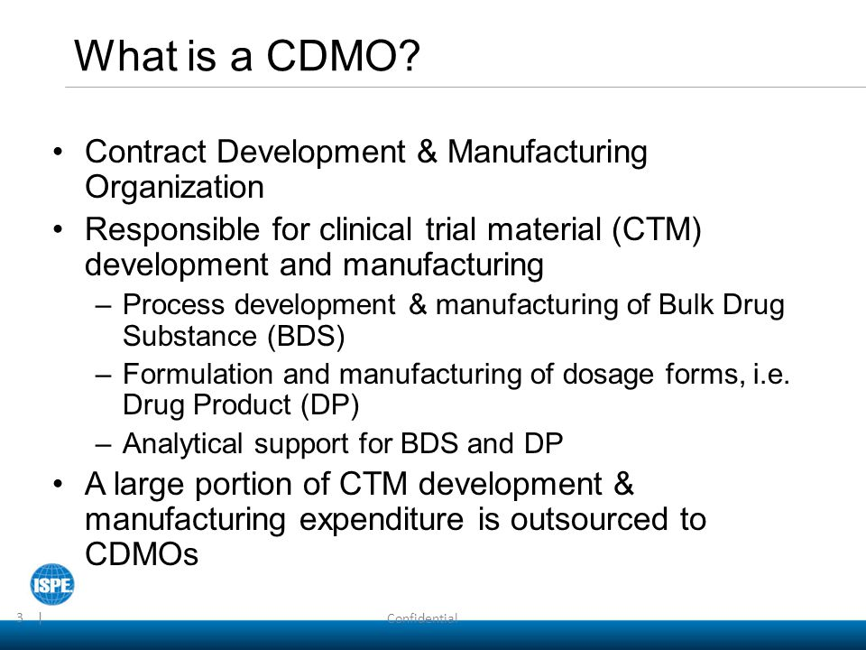 What is a CDMO Contract Development & Manufacturing Organization